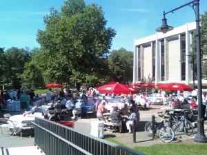 Lunch on Britton Plaza, Dickinson College, Carlisle PA