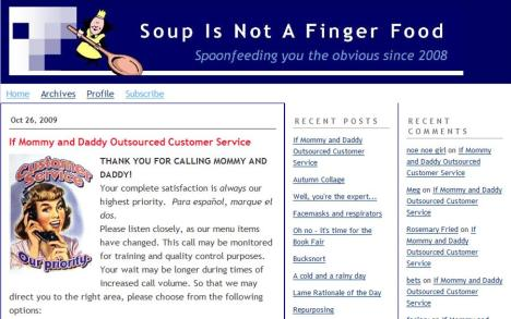 Soup Is Not A Finger Food: Now, on Typepad!