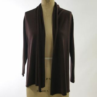 August silk drape collar cardigan