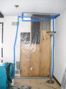 Fam room wall